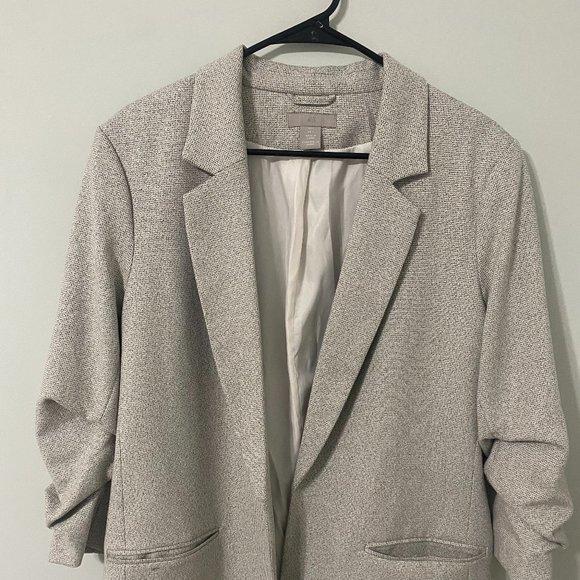 H&M Gather Sleeve Blazer